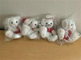 RARE 1999 COCA-COLA Australian International Bean Bag Plush Bunnies (Set of 4) - $41.58