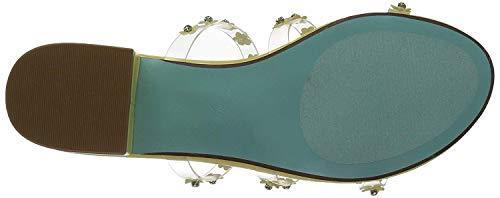 Blue by Betsey Johnson Women's SB-Arlyn Slide Sandal, Yellow, 7.5 M US image 4
