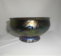 Royal Brierley Bowl Iridescent Art Glass Studio Line England Home Decor - $28.50