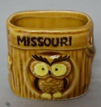 Owl on stump Toothpick holder Missouri Souvenir 2 inches tall - $9.89