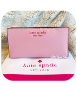 KATE SPADE CAMERON MONOTONE LARGE SLIM BIFOLD WALLET BRIGHT CARNATION - $54.33