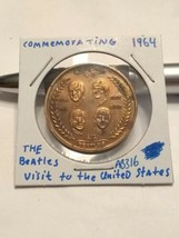 1964 Commemorating The 1964 Beatles To The United States Medal #AB316 - $10.50