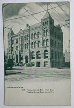 Old Undivided Back Postcard Hudson County Bank, Jersey City, New Jersey ... - $23.57
