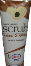 Ayur Herbal 100gm Exfoliating Face Scrub Walnut & Apricot for Dull Lifeless Skin - $8.00