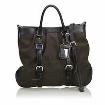 Authentic Prada Brown Jacquard Canapa Satchel Italy - $447.87