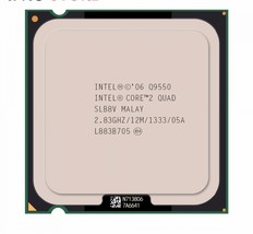 Original Intel CPU CORE 2 QUAD Q9550 Processor 2.83GHz/12M/1333MHz Quad-... - $44.89