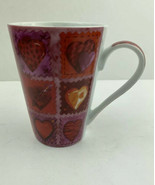 Konitz Red Purple Pink Red And Gold Heart Mug Love Valentines Sweetheart... - $18.23