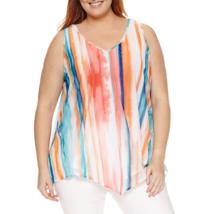 Worthington Sleeveless Handkerchief Hem Knit Tank Top Plus Size 1X New M... - $16.99