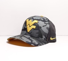 Nike West Virginia Mountaineers Gray Black Camo Swooshflex Hat One Size New - $23.74