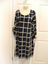 Nwt $ 69 Sandra Daren Windowpane Shift Dress Size 3X - $44.54