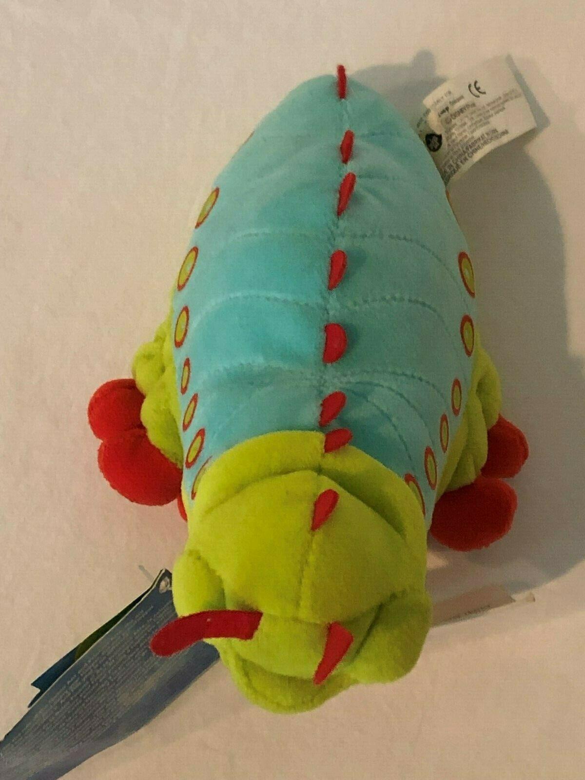 "Disney Store A Bugs Life Heimlich Caterpillar Beanie Plush Stuffed Animal 8"" image 6"