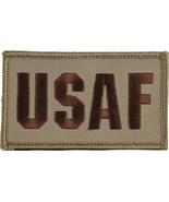 USAF AIR FORCE 2 X 3  EMBROIDERED UNIFORM SHIRT DESERT TAN PATCH HOOK LOOP - $23.74