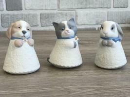 Nao By Lladro Set 5079 Little Kitty / 5077 Little Bunny / 5081 Little Puppy New - $89.10
