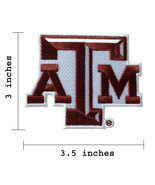 """Texas A&M Logo Size 3.5"""" Embroidered Iron On Patch. - $1.20"""