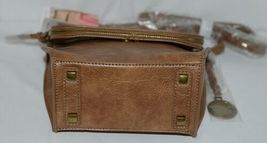 Simply Noelle Brand Tan Brown Color Floral Leaf Pattern Womens Purse image 6