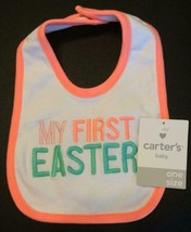 Carters Baby Bib My First Easter NEW One Size 1st Easter Girls 1 Size Ca... - $6.89