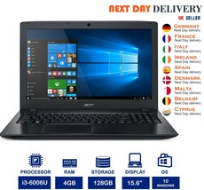 "Acer Aspire E5-575G 15.6"" Black Laptop Intel i3 2.0Ghz 4GB RAM 128GB SSD... - $374.71"