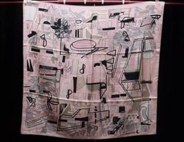 "Hermes Scarf Modernisme tropical Silk 90 cm Pink Carre Shawl 35"" - $374.32"