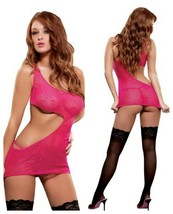 MAGIC SILK HYPNOTIC SWIRL CUT OUT SHORT MINI DRESS & G-STRING - $23.99