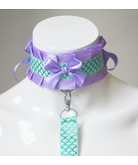 Made to Order - Ddlg collar and leash set - Playful mermaid - kitten pla... - $31.00