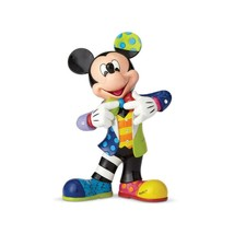 "10.5"" High Disney Britto Mickey Mouse 90th Anniversary Figurine Multicolor"