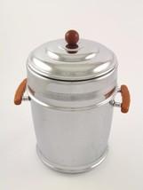 Keystoneware ArtDeco Chrome Wine Chiller Cooler Ice Bucket Bakelite Butt... - $1.025,43 MXN
