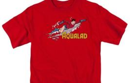 Aqualad T-shirt Aquaman retro superhero cartoon DC cotton red graphic tee image 3