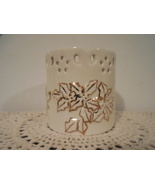 2 votive candle holders Baum Bros Formalities gold ivory tealight holder... - $15.00