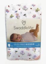 Swaddle Me Legs Free Kicksie Swaddling Blanket Summer Infant Floral Cott... - $14.50