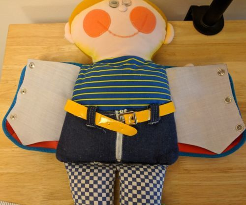 """Vintage 1970 Playskool Dapper Dan Big 18"""" Tall Teaching Doll"""