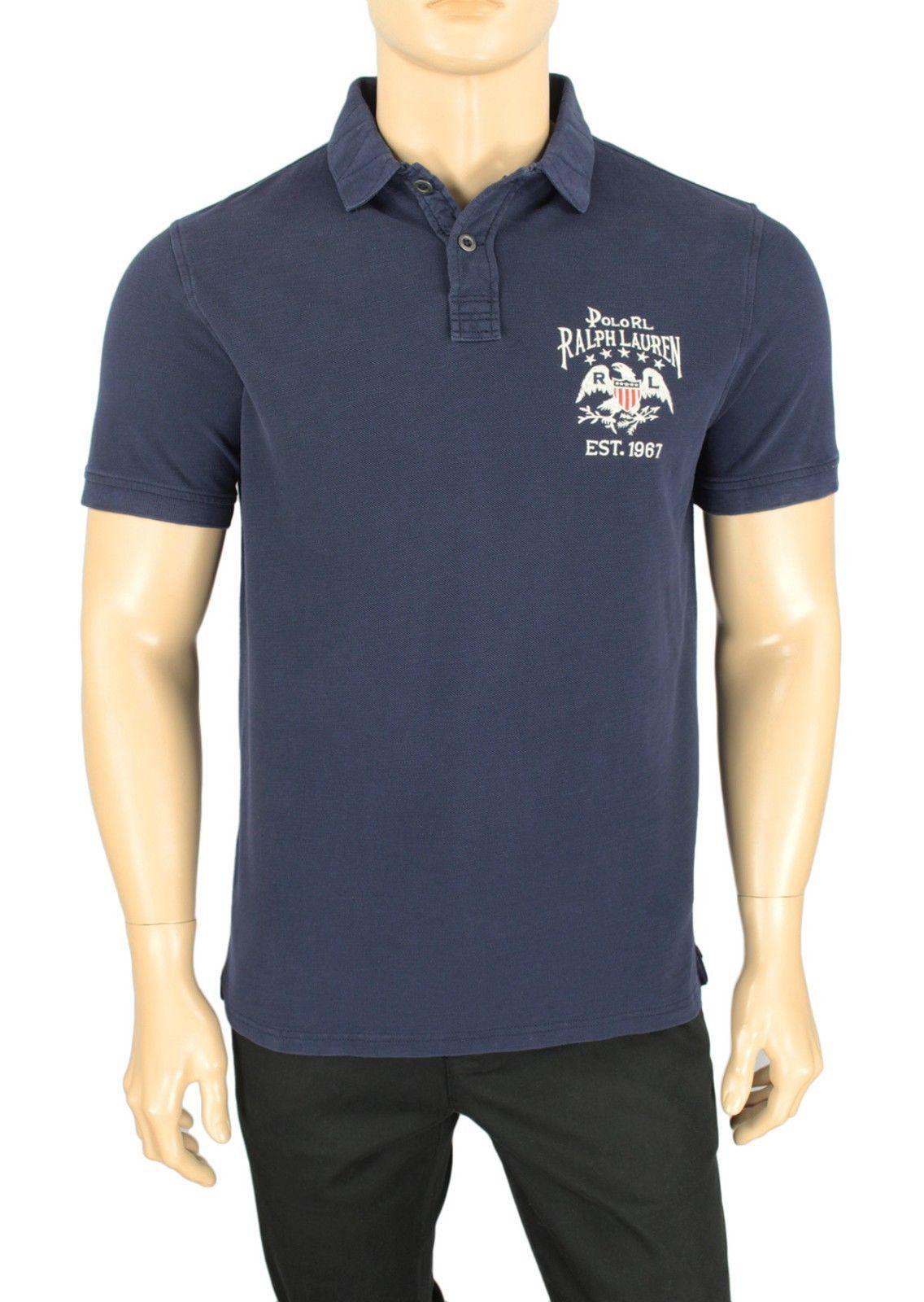 sz XL NWT Polo Ralph Lauren Men/'s White Custom Slim Fit LS Logo T-Shirt