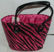 3C4G Three Cheers For Girls Fuchsia Sequin Black Zebra Striped Tote and Wristlet image 3