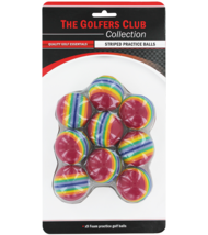 The Golfers Club Striped Practice Golf Balls (Rainbow) x 9 - $10.63