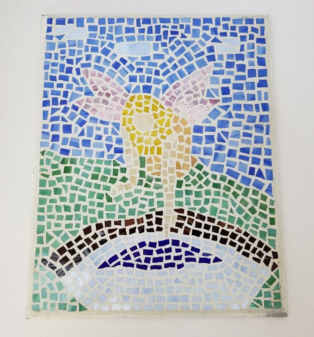 "Elephant Mosaic Wall Hanging Art 14.25""x11.25"" Hummingbird Abstract Decorative"
