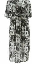 Colleen Lopez Off-the-Shoulder Flutter Dress Black 1X NEW 694-167 - $15.81