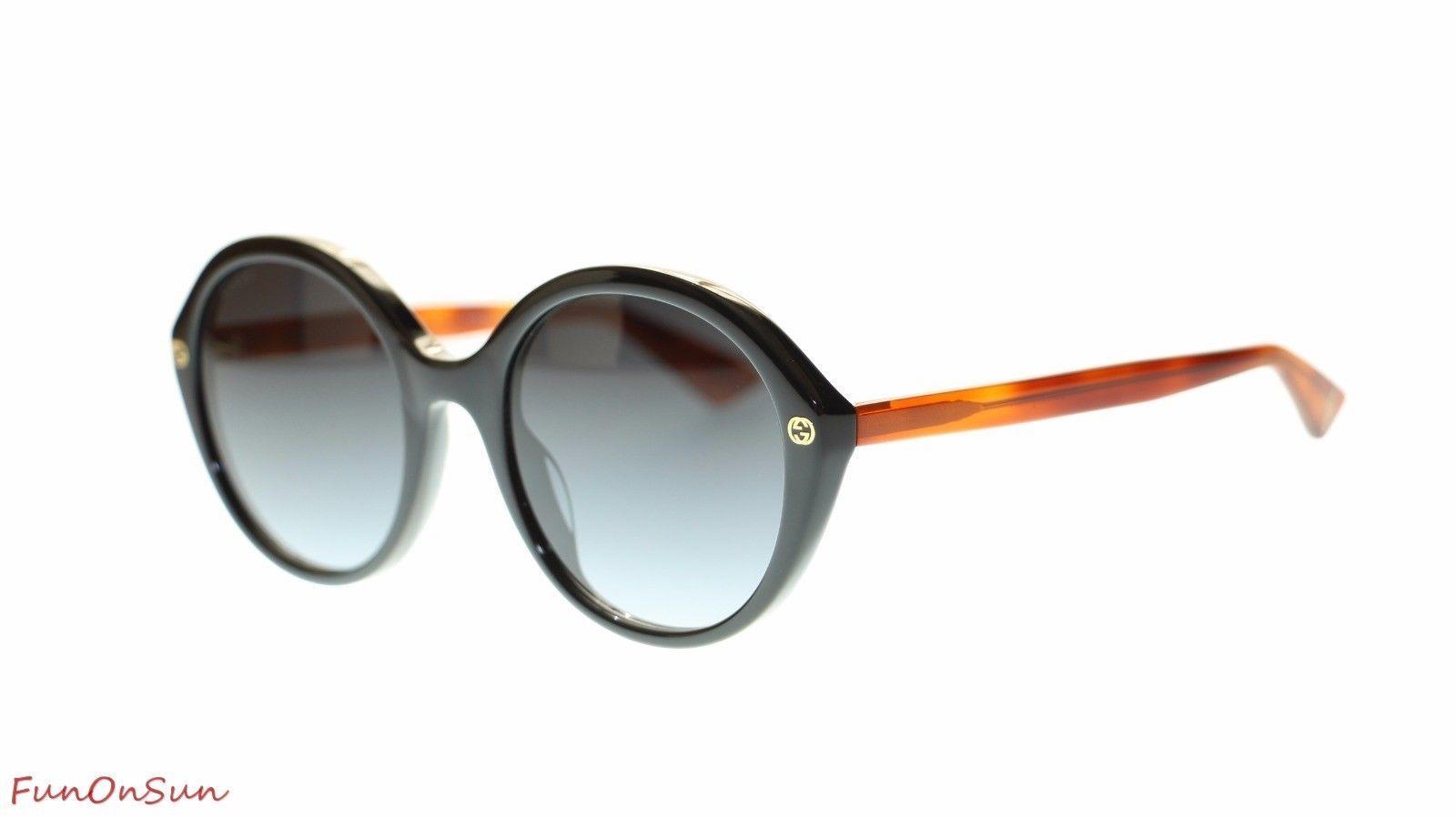 5b3c33d114 S l1600. S l1600. Previous. Gucci Women Oval Sunglasses GG0023S 003 Havana  Black Grey Lens 55MM Authentic. Gucci Women Oval Sunglasses ...