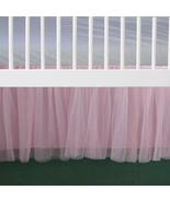 Pink Tulle Lined Ruffled Crib Skirt / Mini Crib Skirt - $39.99+
