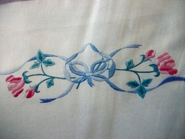 """Colortex Bucilla Stamped Embroidery Pillowcases """"American Beauty"""" - $13.99"""