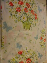 Vintage Set cottage chic floral sheets flat fitted twin bed - for bed or... - $19.79