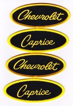 Chevrolet Caprice Black Yellow Embroidered SEW/IRON On Patch Emblem Badge - $15.99