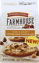 Pepperidge Farm Farmhouse Thin & Crispy Toffee Milk Chocolate Cookies, 6... - $8.84