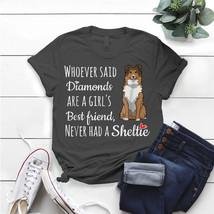 Cute Sheltie Girl'S Best Friend Sheltie Mom T- Shirt Birthday Funny Idea... - $15.99+