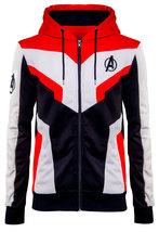 Mens Avengers Endgame Costume Quantum Realm High Tech Suit Cotton Hoodie Jacket image 1