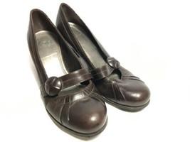 Gianni Bini Women's 9 M Heel Shoes Leather Upper Dark Brown - $10.00