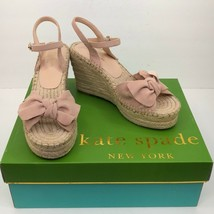 Women's Pink Kate Spade Dusty Blush Fanni Espadrille Wedges sz 7.5 - $124.69