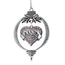 Inspired Silver Grandpa Pink Pave Heart Holiday Ornament - $14.69