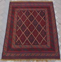 A819B, Vintage Afghan Tribal Mishwani Rug Kilim 3'4 x 4'1 Turkish Ethnic... - $139.70