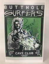 "Gibby Haynes Signed Autographed ""Butthole Surfers"" Glossy 11x17 Concert Poster - $149.99"