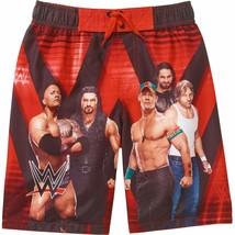 WWE CENA ROCK ROLLINS & REIGNS UPF-50+ Bathing Suit Swim Trunks Boys Sz 4/5 - $12.50