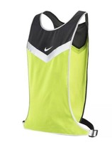Nike Running Vivid Strike Reflective Night Run Safety Vest Black Gray Vo... - £20.02 GBP